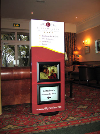 The new digital sign designed for Killyhevlin Hotel