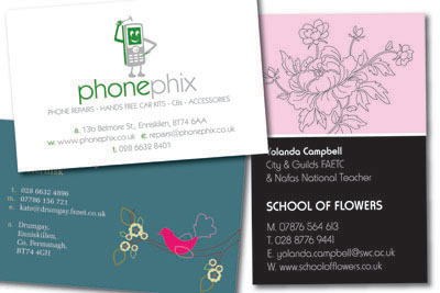 Full Colour Business Cards from LE Graphics