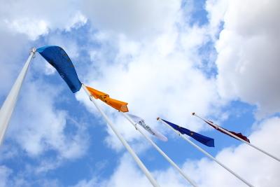 Aluminium Flag Poles with Custom Flags