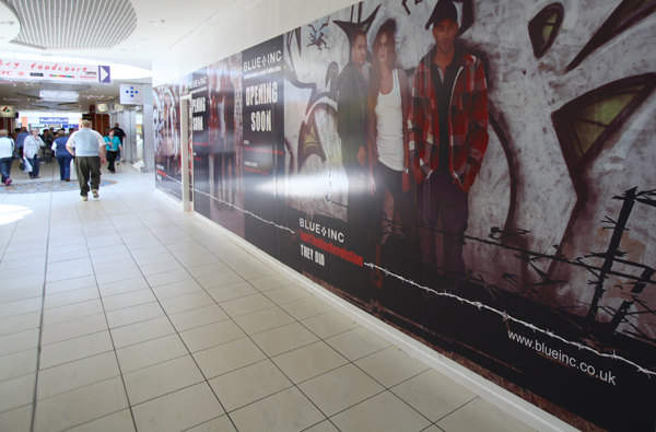 Vinyl Advertising Graphics in Abbey Centre
