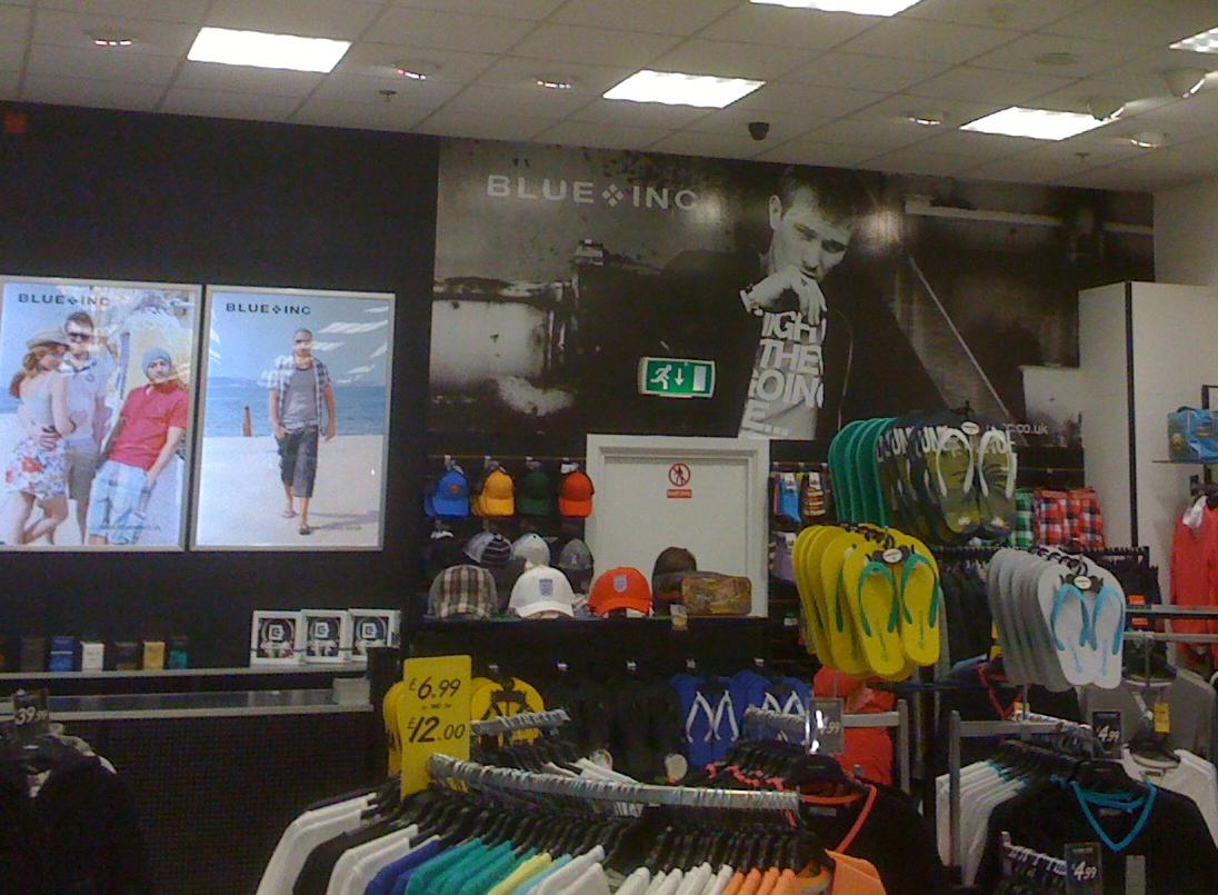 "Digital ""Wallpaper"" instore at Blue Inc, Erneside Shopping Centre"