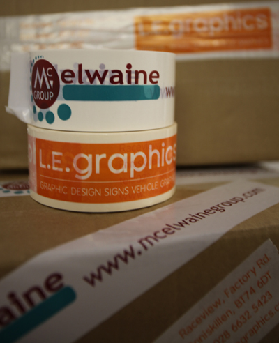 Custom Printed Packing Tape from L.E. Graphics