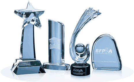 Crystal Gifts and Awards from L.E. Graphics