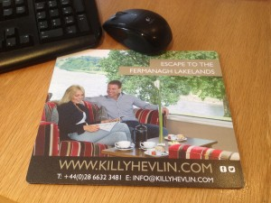 Full Colour Mousemat produced for Killyhevlin Hotel - Media Centre Host for the G8 Summit