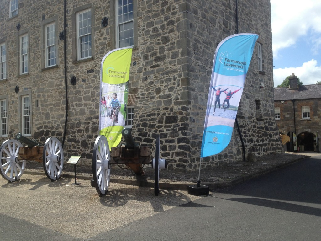 Feather Flags produced for Fermanagh District Council