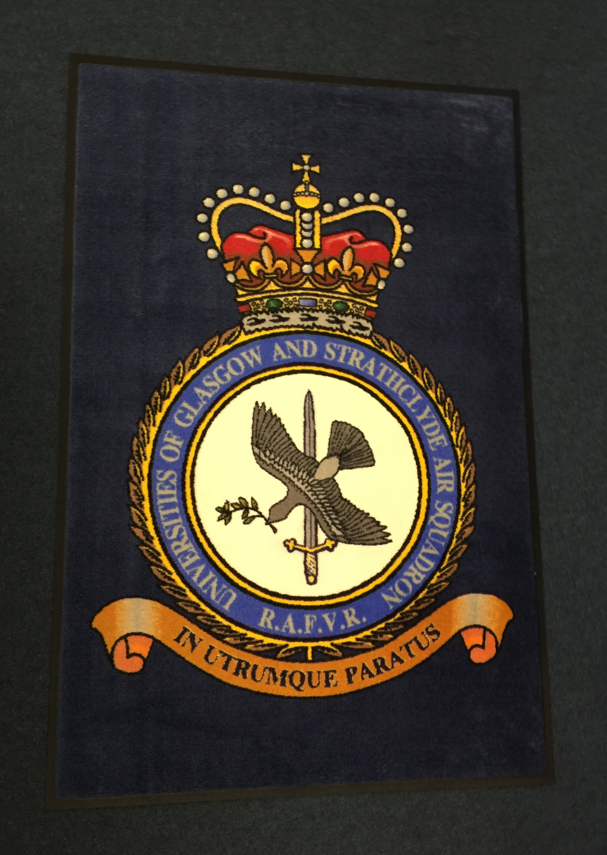 Rubber mats glasgow - We Were Very Pleased Today To Supply This Beautiful Custom Printed Carpet Mat To The Universities Of Glasgow And Strathclyde Air Squadron Of The Rafvr