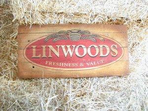 Imitation Antique Sign by LE Graphics, Hand painted and distressed for aged effect