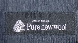 Pure New Wool Label