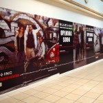 Vinyl Graphics on Temporary Hoarding at Buttercrane Centre, Newry
