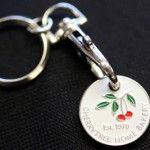 Embossed Metal Trolley Token Key Ring from legraphics.co.uk