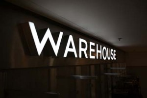Warehouse signs inside Brown Thomas in Limerick