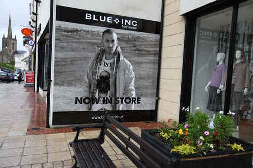 Exterior Wall Sign @ Blue Inc