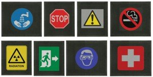 Safety Messages on Printed Rubber Mats