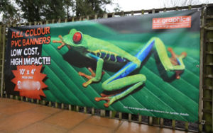A ten foot by 4 foot Full Colour PVC Banner