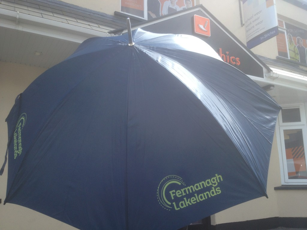 Fermanagh Lakelands Umbrellas - hopefully it will be a while before they are needed!