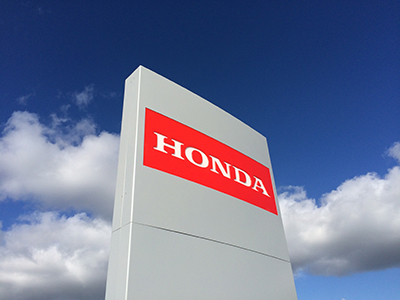 Honda Sign - Steel and Acrylic