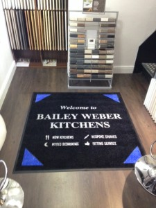 Custom Printed Carpet Mat for Bailey Weber Kitchens in Newport Pagnell