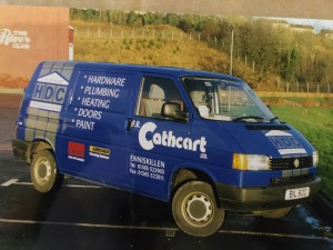 VW Transporter liveried in mid 1990's for FR Cathcart