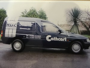 Ford Escort Van liveried for FR Cathcart mid 1990's