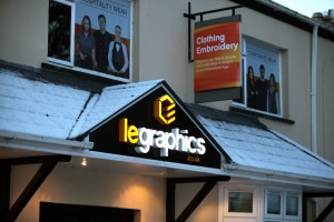 LE Graphics illuminated shop front sign