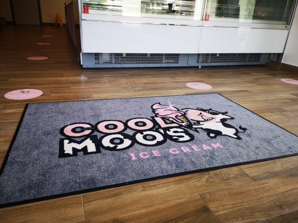 Branded nylon backed mat